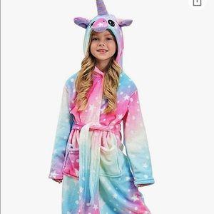 New in package girls hooded unicorn robe